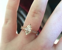 Real Engagement Rings: Pear & Marquise Diamonds   Weddingbee