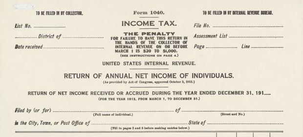 The Income Tax in 1913 A Way to \u0027Soak the Rich\u0027 PBS NewsHour