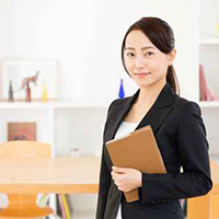 asian businesswoman in the room