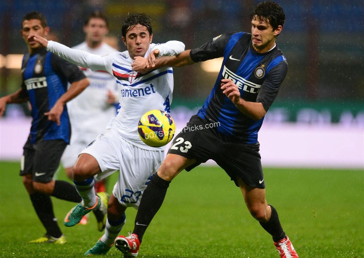 Sampdoria vs. Inter – PREDICTION & PREVIEW - Soccer Picks & FREE Soccer Predictions