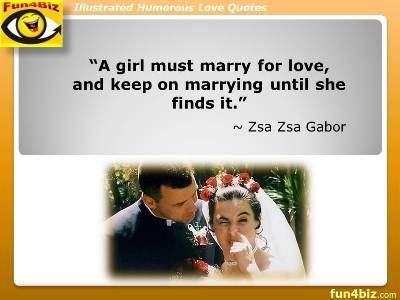 SUCCESSFUL MARRIAGE (Humorous Marriage Quotes; Humorous Business - quote on presentation