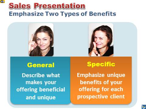 Sales Presentation Sell Twin Benefits - General and Specific Personal
