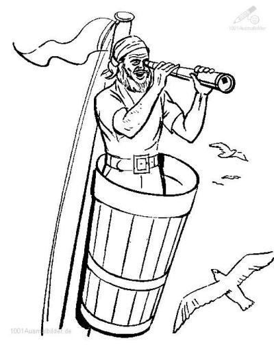 Pirate Ausmalbild