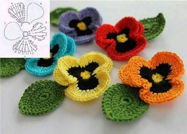 15 DIY Flower Crochet Chart Diagrams \u2013 1001 Crochet