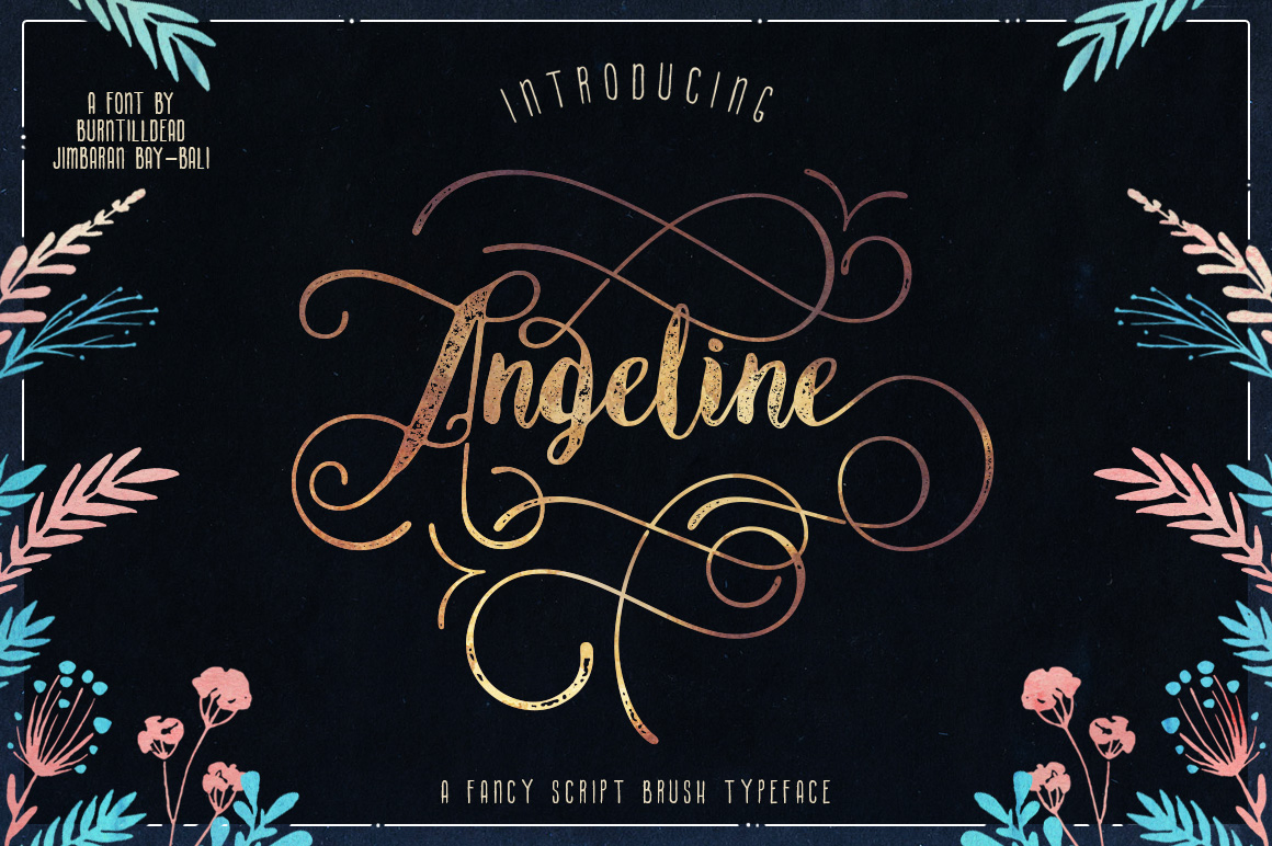 Insane 3d Wallpaper Download Angeline Vintage Detalles De Fuente 1001 Free Fonts