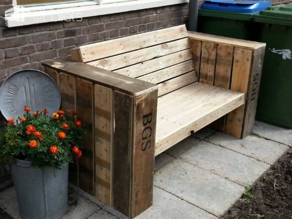 Lounge Bench Two Large Planter Boxes Made Of Recycled