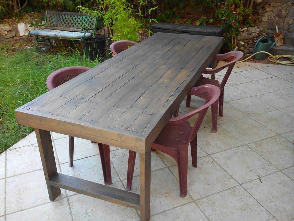 Table De Jardin En Palettes Pallets Garden Table O 1001