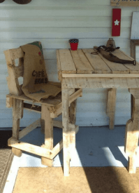 Pallet Benches, Pallet Chairs & Patio furniture  Pallet ...