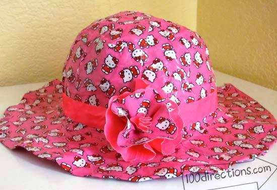 Hello Kitty Duct Tape sun hat by Jen Goode