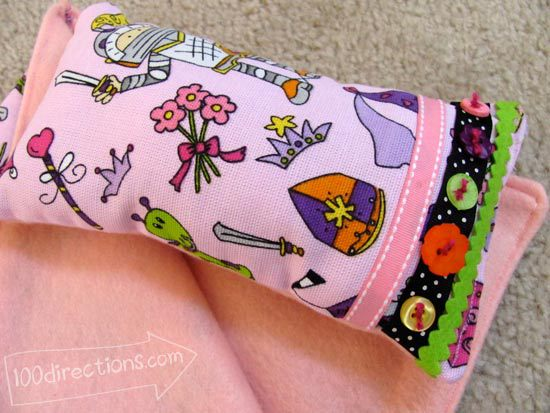 Doll pillow made with Laura Kelly fabric designed by Jen Goode