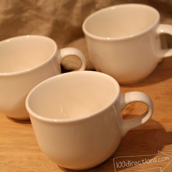 plain white ceramic tea cups are great for painting
