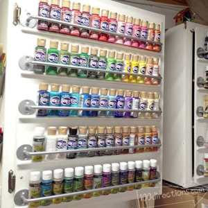 Paint organizing cabinet door