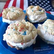 Easy Ice Cream Sandwiches for July 4th