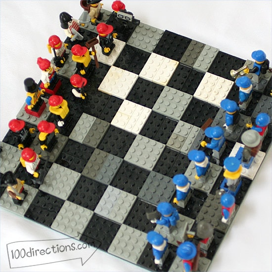 Make a LEGO chess game board