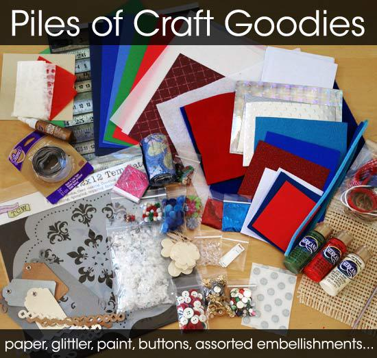 Holiday Hop prize pack - assortment of craft supplies