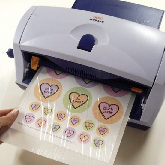 Use your Xyron Creative Station to turn the printable art into stickers