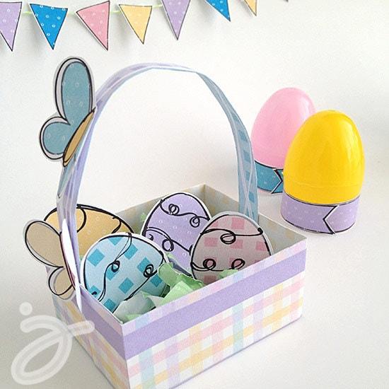 Mini Easter Basket printable craft by Jen Goode