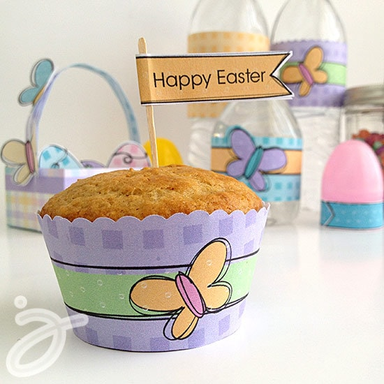 Cupcake and muffin wrapper printables by Jen Goode