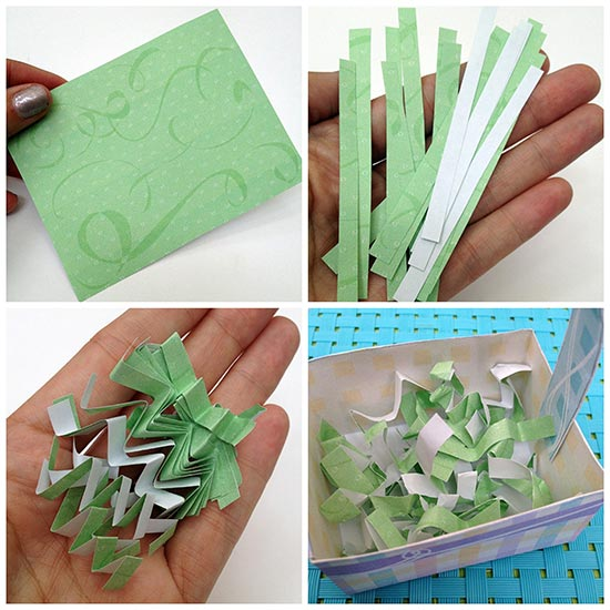 Make mini Easter Basket grass