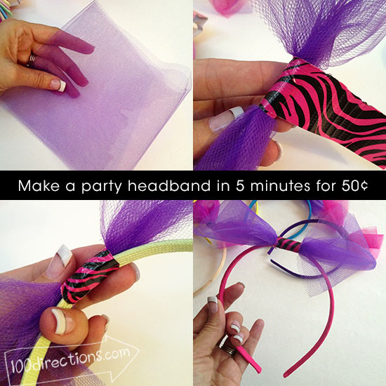 Making a party headband in 5 minutes