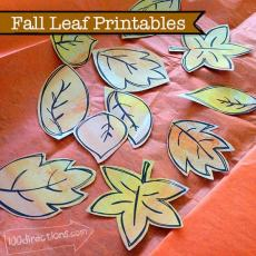 Fall Leaves Bunting Kit Printable Craft