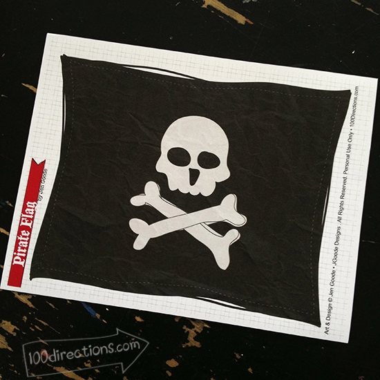 Printable pirate flag by Jen Goode