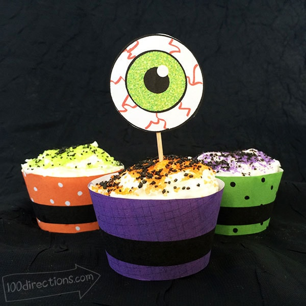 Printable eyeball art for cupcakes