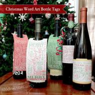 Christmas Wine Gift Tags and Bottle Dress Ups