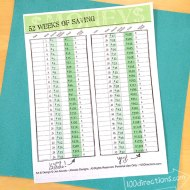 52 weeks of Savings - a free printable