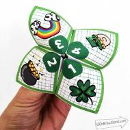 St. Patrick's Day Cootie Catcher Printable