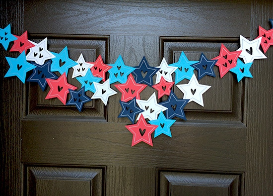 Quick patriotic garland designed by Jen Goode