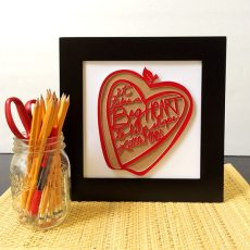 It Takes a Big Heart Wall Art Teacher Gift