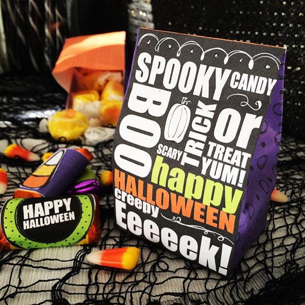 Printable Halloween Treat bag designed by Jen Goode