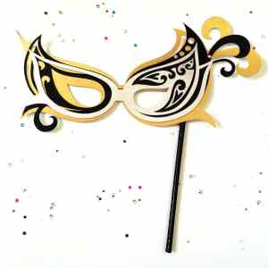 Masquerade Mask designed by Jen Goode and created with Cricut