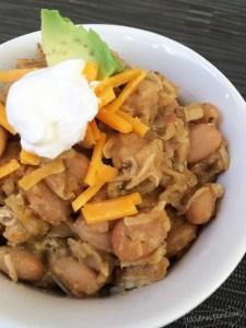 Make white bean and chicken chili