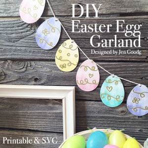 Printable Easter Egg Garland and SVG