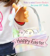 Mini Easter Basket for Dolls