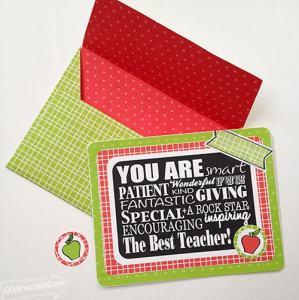 FREE Teacher appreciation card kit designed by Jen Goode