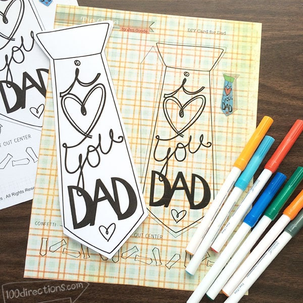 I Love You Dad Father\u0027s Day Card - 100 Directions