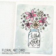 Floral Art Card Printable