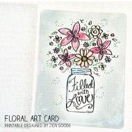 Floral Art Card Printable