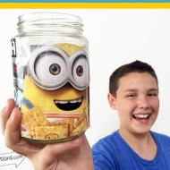 DIY Box Tops Minion Jar