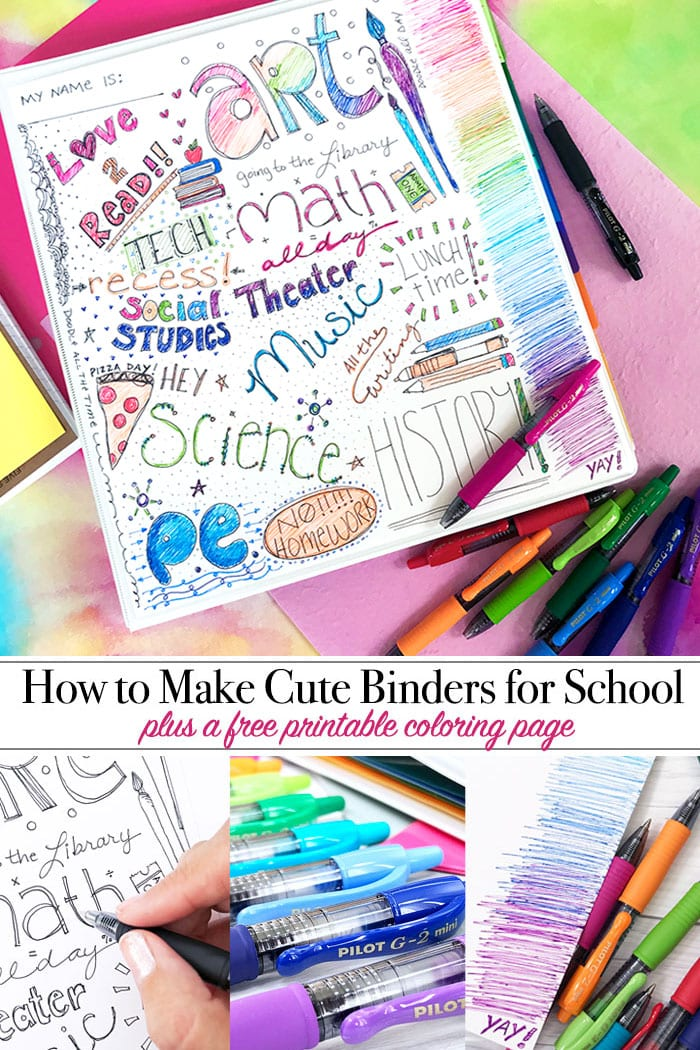 How to Make Cute Binders for School - 100 Directions