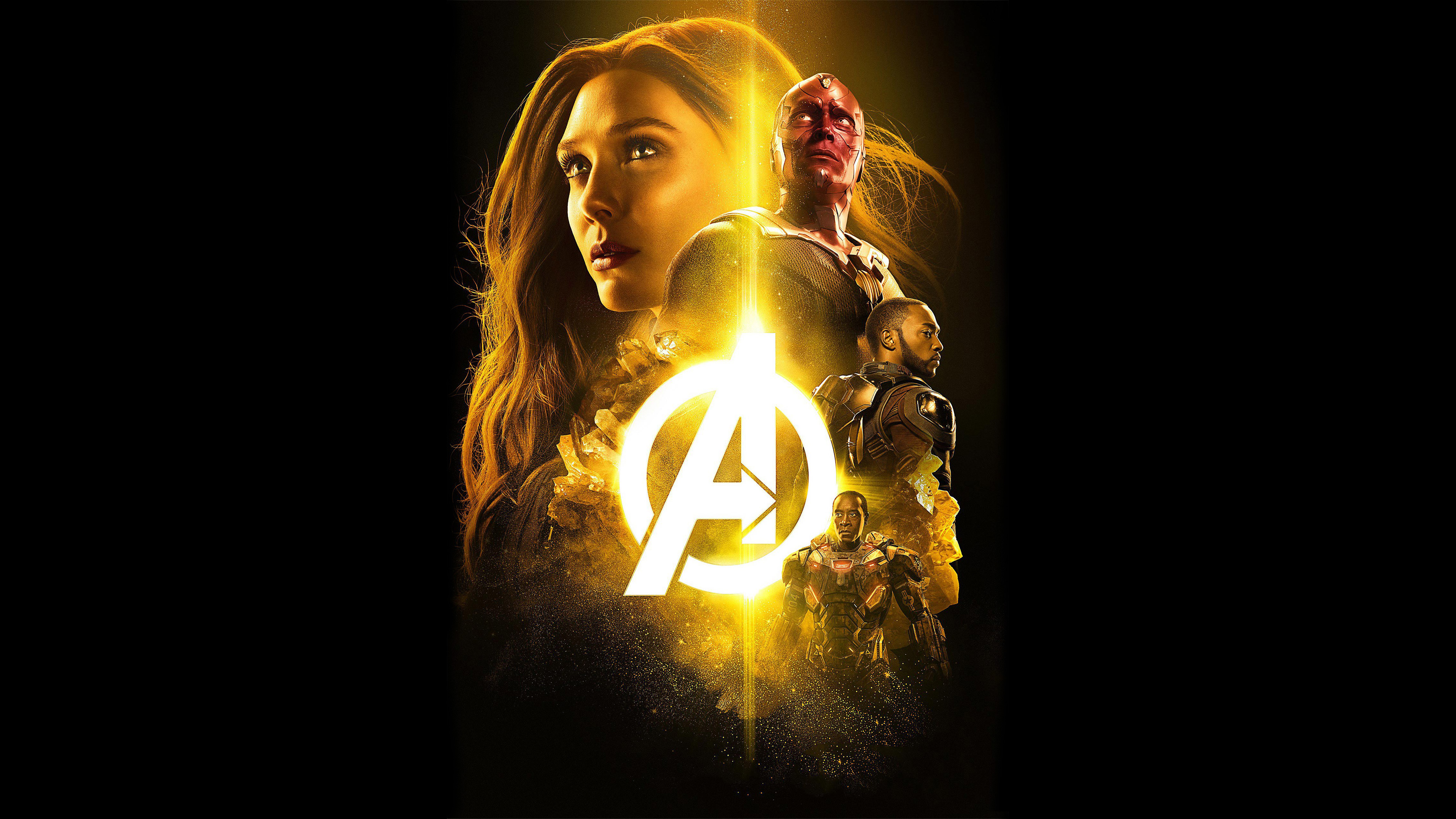 Hd Wallpapers Brands Logos Avengers Infinity War War Machine Vision Scarlet Witch