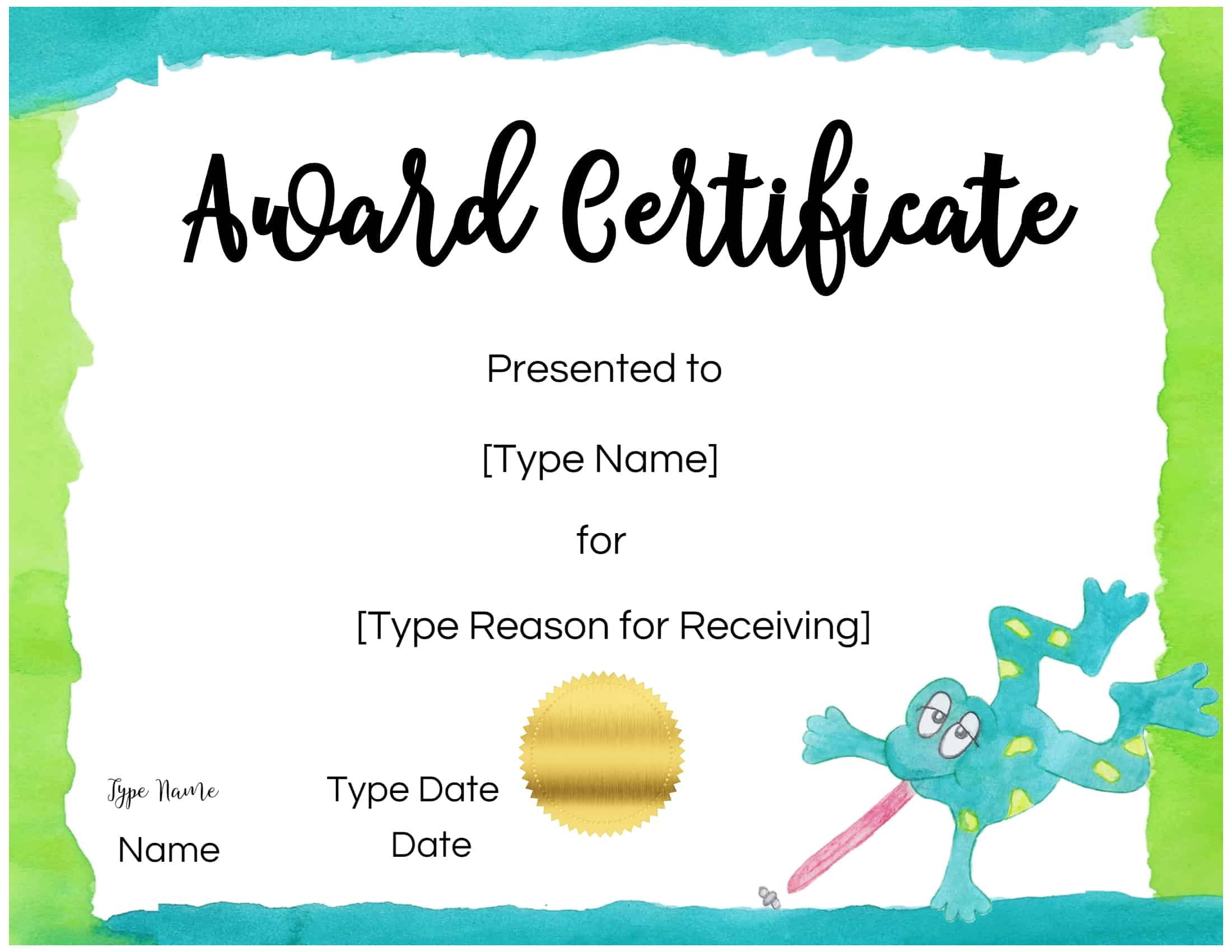 certificate templates for kids