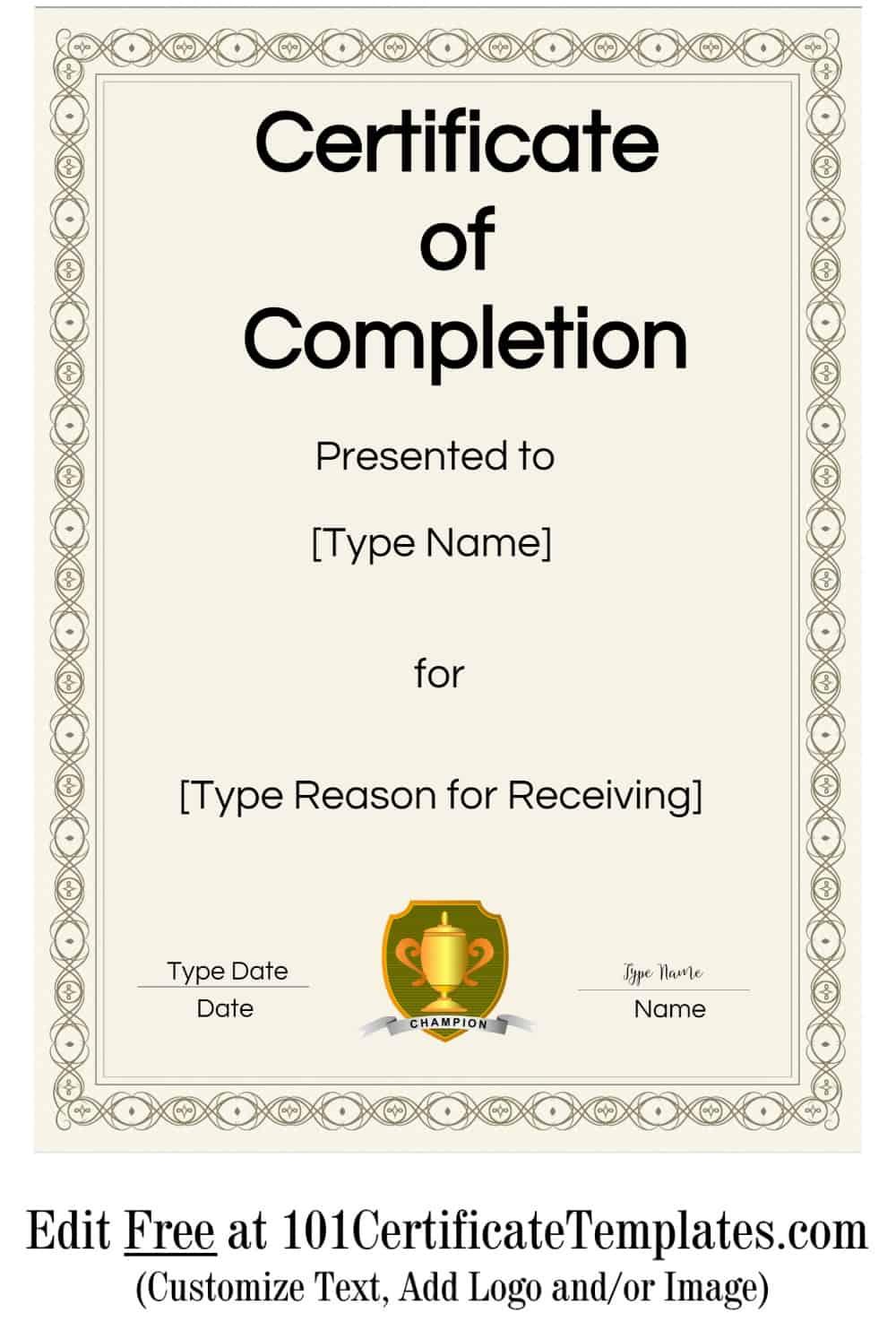 certificate maker free printable