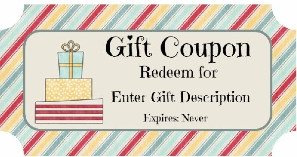 Free Birthday Gift Certificate Template - birthday coupon templates free printable