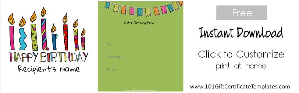 Free Birthday Gift Certificate Template - Lunch Voucher Template