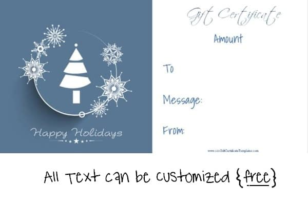 Free Editable Christmas Gift Certificate Template 23 Designs - Free Christmas Voucher Template