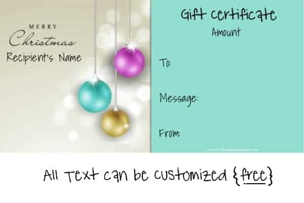 Free Editable Christmas Gift Certificate Template 23 Designs - christmas gift certificates templates